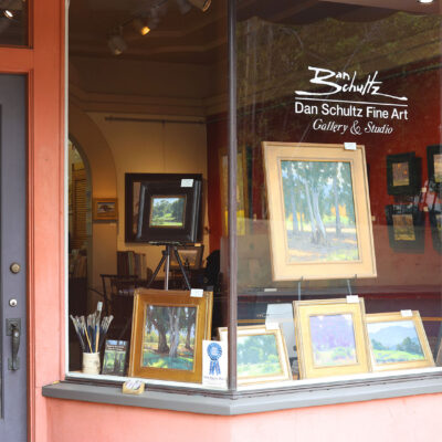 Dan Schultz Fine Art Gallery & Studio front window