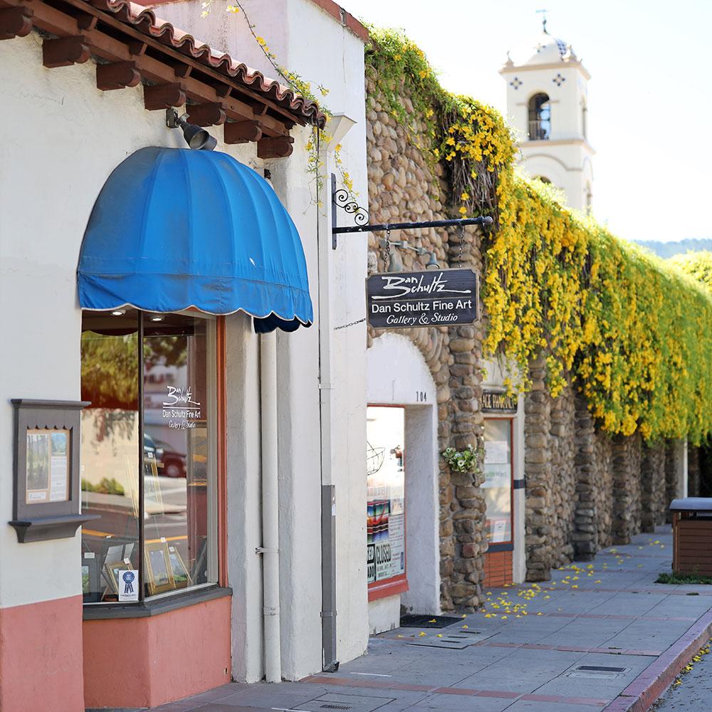 Outside Dan Schultz Fine Art Gallery & Studio