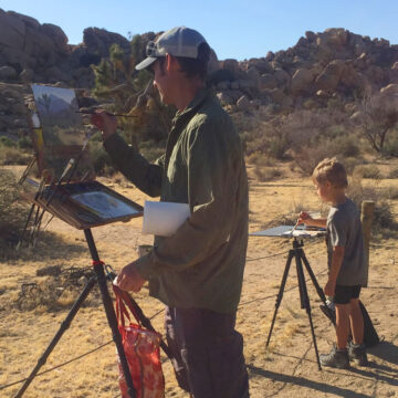 Painting at Joshua Tree National Park