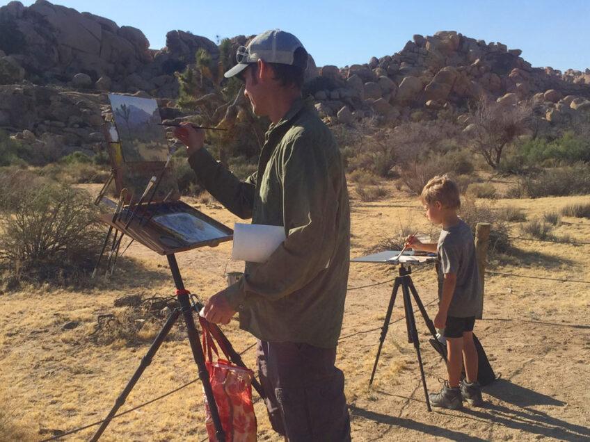 Painting at Joshua Tree National Park