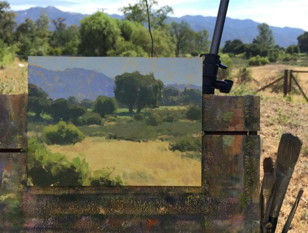 Open Space • 6x8 inches • Oil on Linen Panel • Painted on location with Steve Giannetti at Patina Farm in Ojai, California