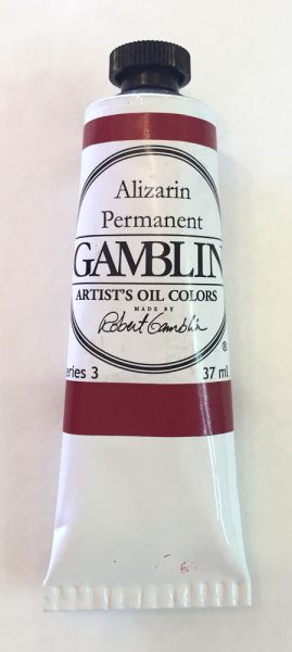 37 ml. tube of Gamblin Alizarin Permanent oil paint