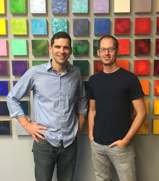 Product Manager Scott Gellatly and Dan Schultz at the Gamblin Factory in Portland, Oregon.