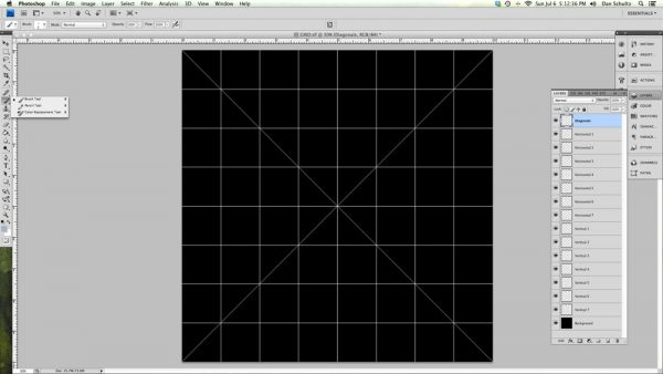 Grid in Adobe Photoshop
