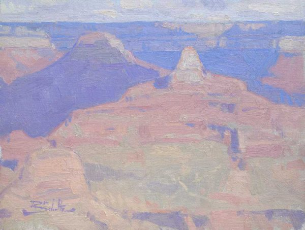 Isis Temple (Grand Canyon National Park) •9x12 inches •Oil on Linen Panel •Sold