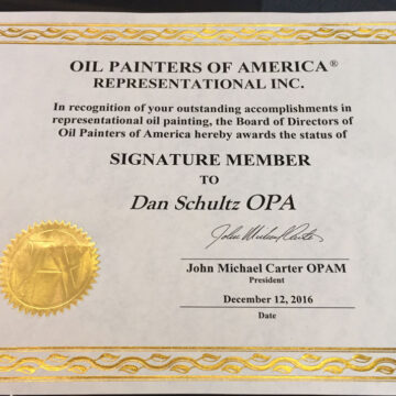 Signature Membership in Oil Painters of America