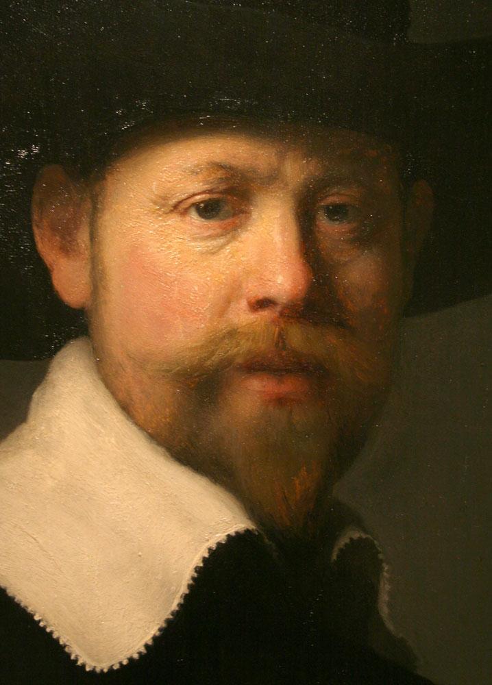 portrait of marten looten Rembrandt van rijn (detail) portrait of marten looten.