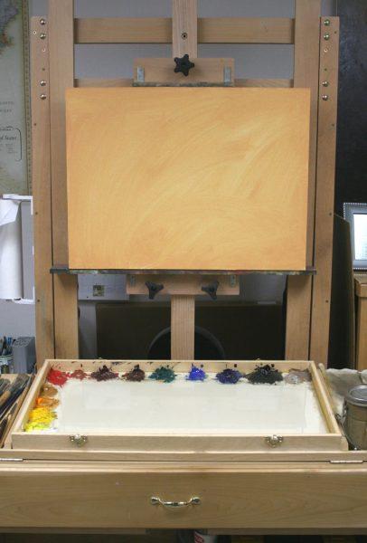Sand Creek Oil Painting Demonstration by Dan Schultz, Step 01