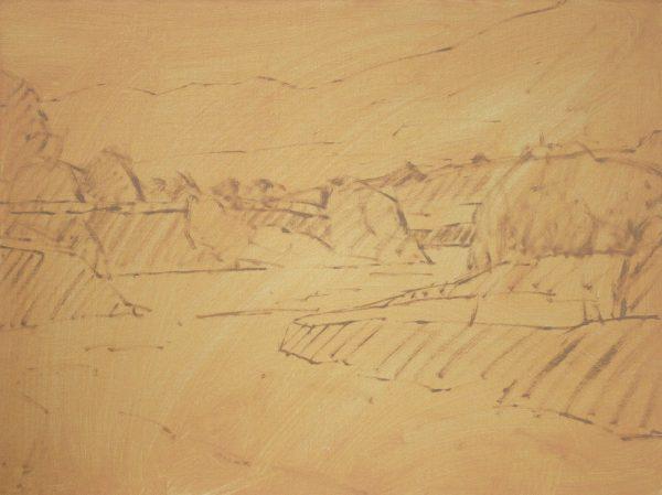 Sand Creek Oil Painting Demonstration by Dan Schultz, Step 02b