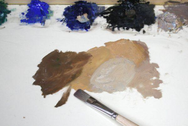 Sand Creek Oil Painting Demonstration by Dan Schultz, Step 03