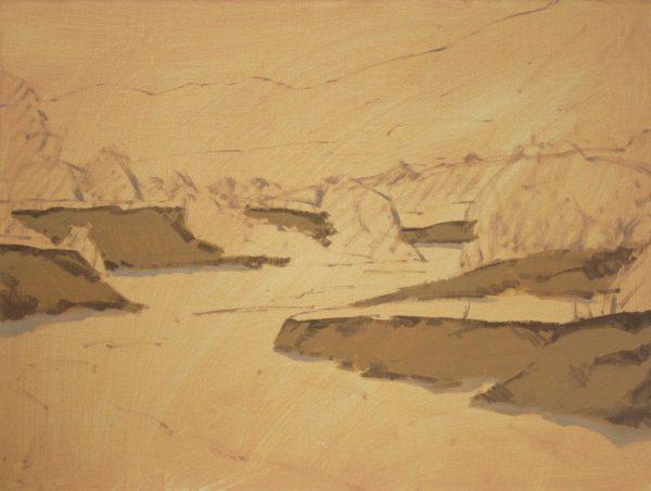 Sand Creek Oil Painting Demonstration by Dan Schultz, Step 03b
