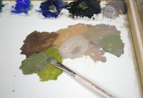 Sand Creek Oil Painting Demonstration by Dan Schultz, Step 04