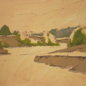 Step by Step Oil Painting Demonstration of Sand Creek