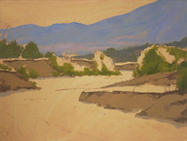 Sand Creek Oil Painting Demonstration by Dan Schultz, Step 05b