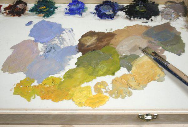 Sand Creek Oil Painting Demonstration by Dan Schultz, Step 06
