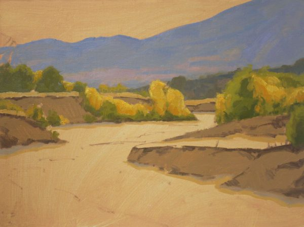 Sand Creek Oil Painting Demonstration by Dan Schultz, Step 06b