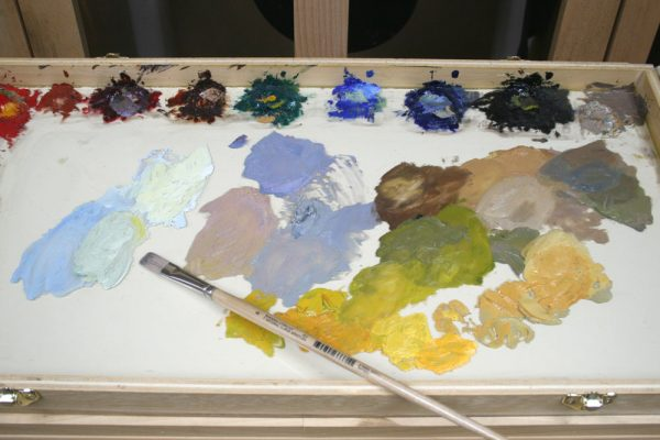 Sand Creek Oil Painting Demonstration by Dan Schultz, Step 07