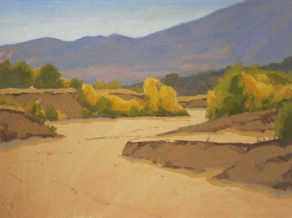 Sand Creek Oil Painting Demonstration by Dan Schultz, Step 07b