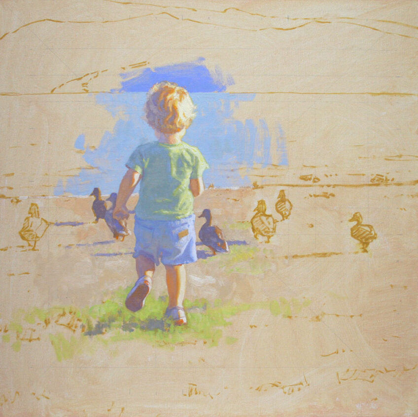 Step by Step Oil Painting Demonstration of The Chase