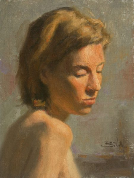Thoughtful Moment • 12x9 inches • Oil on Linen Panel • Painted with the Zorn Palette