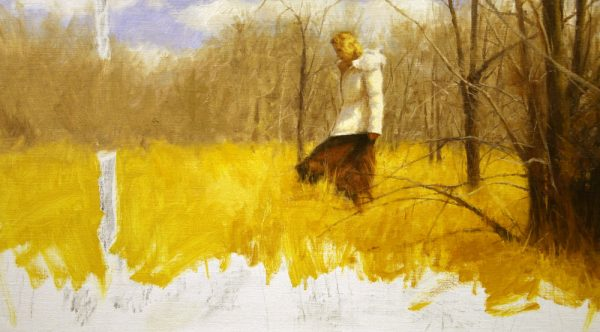 West Wind oil painting demonstration by Dan Schultz, step 10