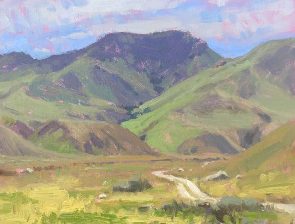 Wind Wolves Preserve •9x12 inches •Oil on Linen Panel •Sold •Honorable Mention Award
