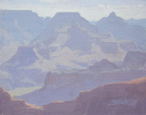 Wotan's Throne (Grand Canyon National Park) •8x10 inches •Oil on Linen Panel •Available from Dan Schultz Fine Art in Ojai, California