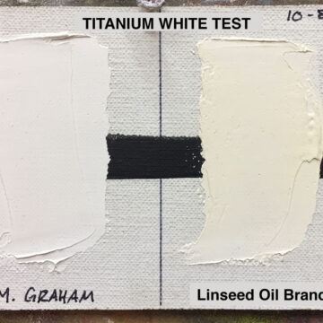 Color Stability (Walnut Oil vs. Linseed Oil)