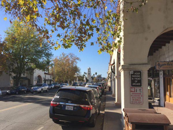 Downtown Ojai, California, December 21, 2017