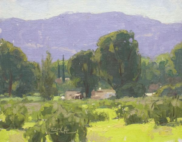 Ojai Valley Ranch • 11x14 inches • Oil on Linen Panel • Available from Dan Schultz Fine Art in Ojai, California