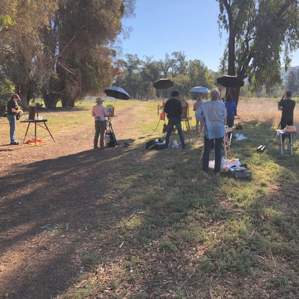 Plein Air Painting Class in Ojai, California with Dan Schultz