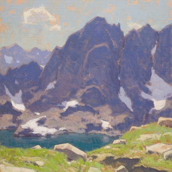 Alpine •18x18 inches •Oil on Linen Panel • Available from Dan Schultz Fine Art in Ojai, California