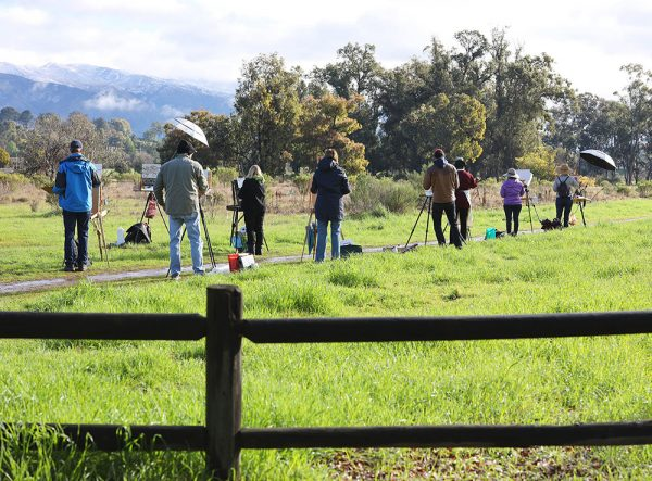 Dan Schultz's plein air painting class in Ojai, California