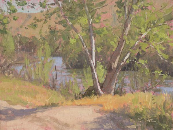 Banks of the Kern • 12x16 inches • Oil on Linen Panel • Available from Dan Schultz Fine Art in Ojai, California