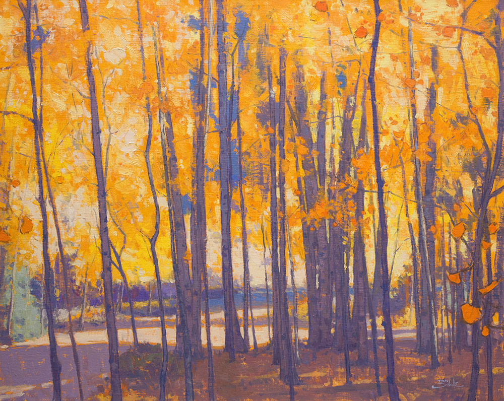Autumn in the Aspens • 24x30 inches • Oil on Linen Panel • By Dan Schultz