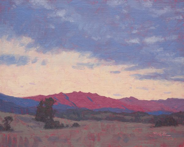 Ojai Valley Sundown •11x14 inches •Oil on Linen Panel •Available from Dan Schultz Fine Art in Ojai, California