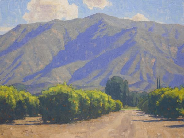 Ojai Morning Light •18x24 inches •Oil on Linen Panel •Available from Dan Schultz Fine Art in Ojai, California