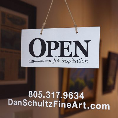 Dan Schultz Fine Art Gallery Door Sign