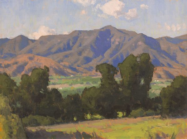 Ojai Valley Overlook • 12x16 inches • Oil on Linen Panel • Available from Dan Schultz Fine Art in Ojai, California