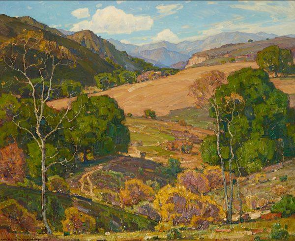 William Wendt painting: When Fields Lie Fallow, 40x50