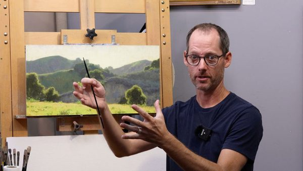 Measuring Demonstration, Dan Schultz Landscape Painting Curriculum