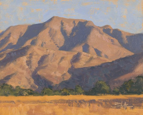 September Shadows •8x10 inches •Oil on Linen Panel •Available from Dan Schultz Fine Art in Ojai, California