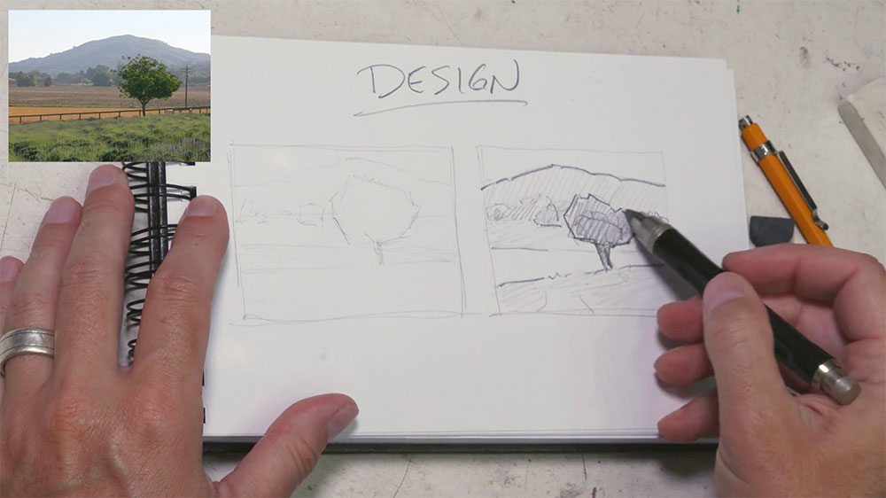 Design Lesson from Landscape Painting Fundamentals Course by Dan Schultz at SentientAcademy.com