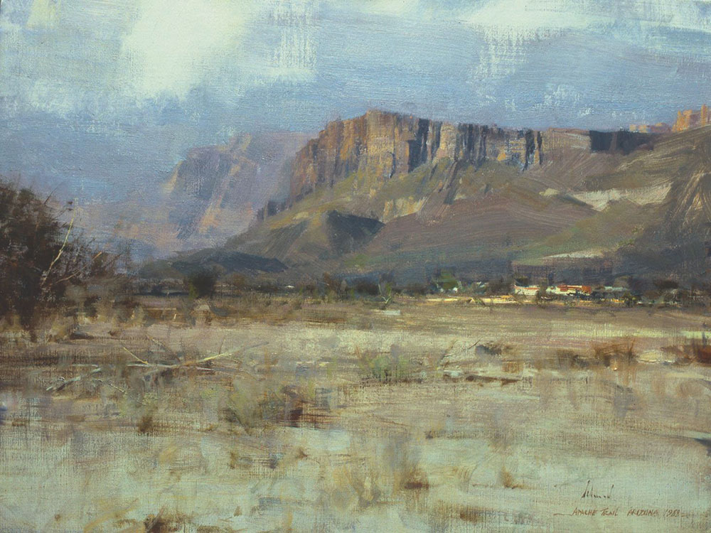 Apache Trail, 18x24, by Richard Schmid