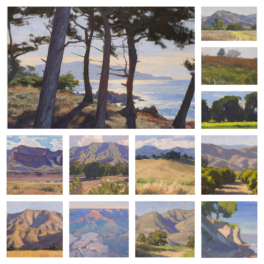 Watch demonstrations of all these paintings in my Landscape Painting Fundamentals Course
