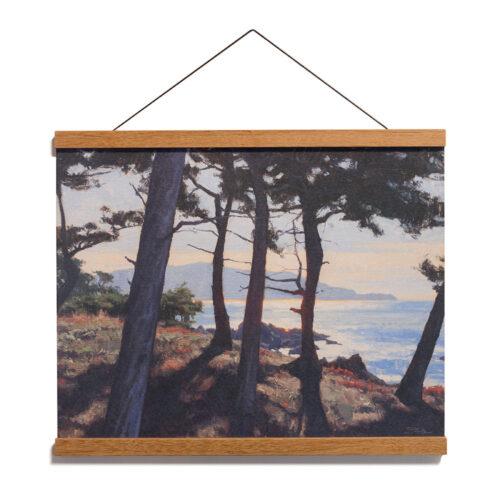 Coastal Brilliance, 12x16 Archival Print on Paper with Teak Wood Magnetic Hanger by Dan Schultz