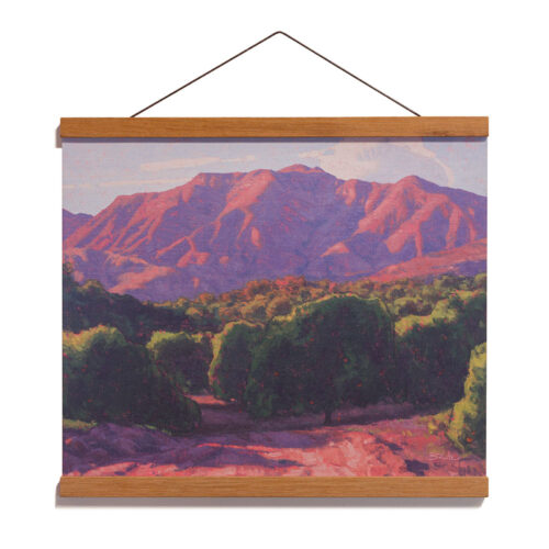 Orchard Evening, 12x15 Archival Print on Paper with Teak Wood Magnetic Hanger by Dan Schultz