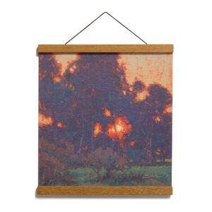 Sunset Glow, 12x12 Archival Print on Paper with Teak Wood Magnetic Hanger by Dan Schultz
